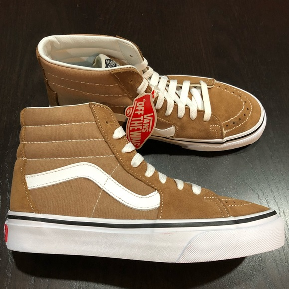 733f1f7f6fad Vans Sk8-hi Shoes Tiger s Eye True white
